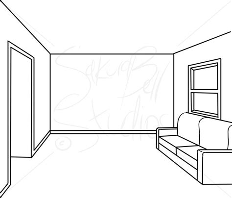 how to draw a 3d sofa one point perspective by sakurabellstudios on deviantart