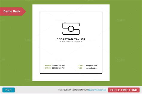 s square business card template business card