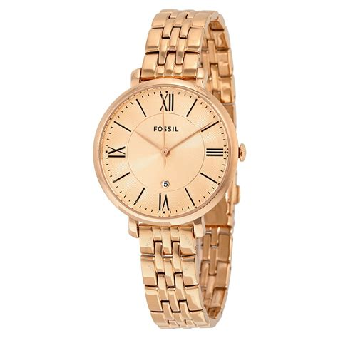 fossil jacqueline gold tone