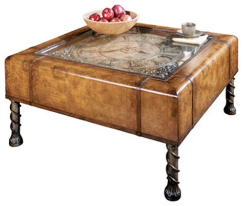 eclectic coffee table butler clock cocktail table eclectic coffee tables