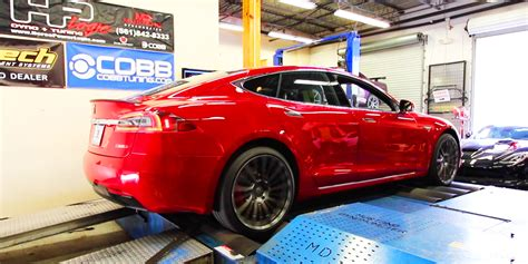 tesla model  pd dyno ludicrous mode horsepower