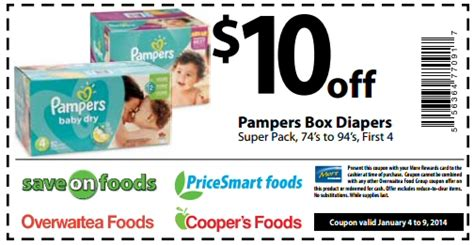 printable pers coupons canada 2014 pers coupon for pers diapers 10 off