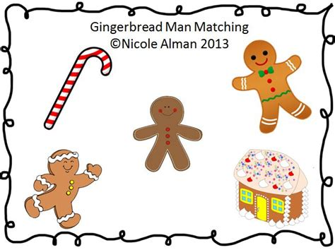gingerbread man matching game printable 17 best images about gingerbread man on pinterest