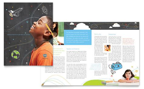 School Brochure Template Free by Education Foundation School Brochure Template Design