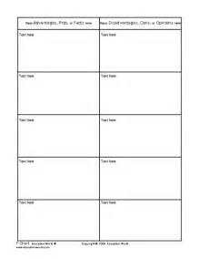 t chart template education world t chart template