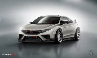 our 2016 honda civic coupe type r renderings