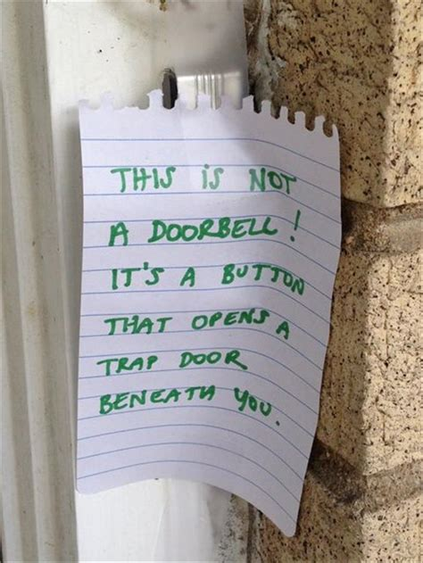 funny front door notes  parent  relate