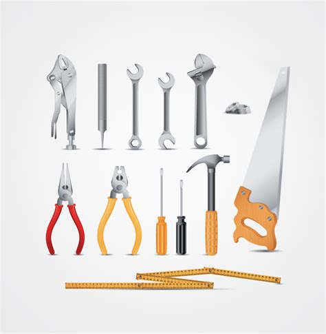 free tool tool vectors wrench pliers hammer screwdriver saw