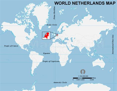 Holland World Map by Netherlands Location Map Location Map Of Netherlands
