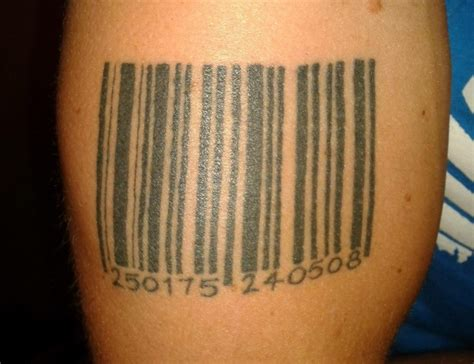 tattoo barcode designs barcode tattoos designs ideas and meaning tattoos for you