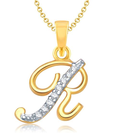 vk jewels alphabet collection initial pendant letter r