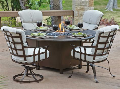 patio table tops woodard cast aluminum hammered 48 pit top with
