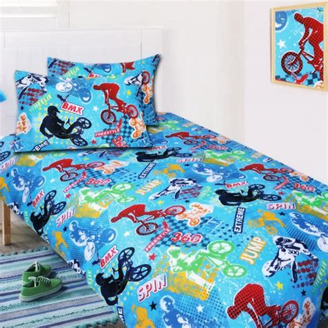 dirt bike bed set bmx glow in the quilt cover set from bedding dreams bike bicycle sports