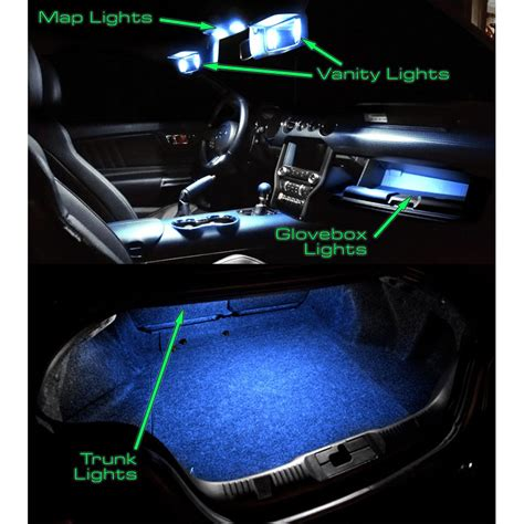 Interior Lighting Kit by Mustang Led Interior Light Conversion Kit 2015 2017