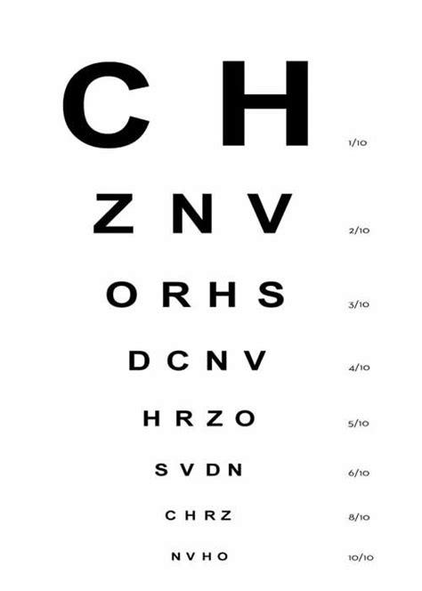 test di lettere test ottotipo