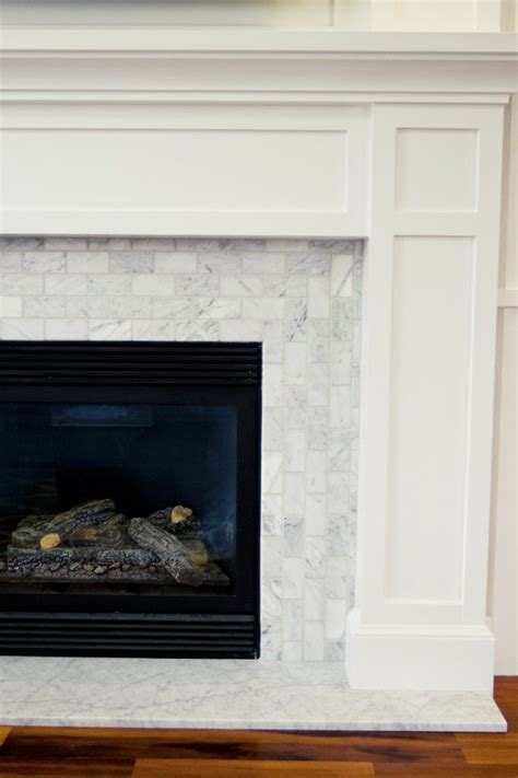 Pictures Of Fireplaces With Tile by Carrara Marble Tile For The Surround Fireplaces