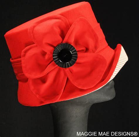 mae design smm4 020 linen and polka dot small brim hat