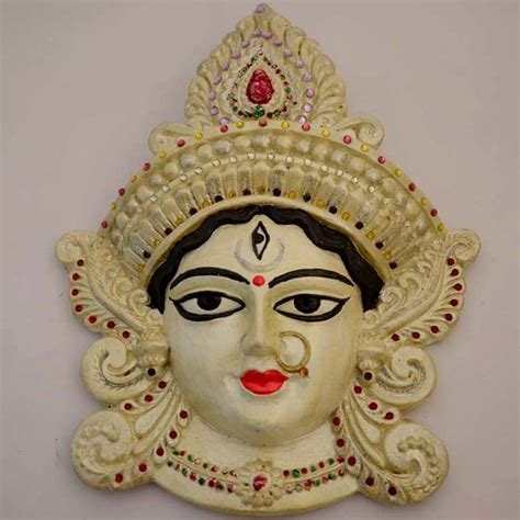 How To Decorate Home Mandir by White Godess Durga Face Online Shopping