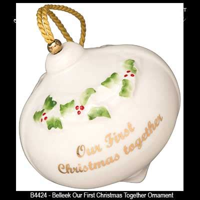 belleek ornament our first christmas together