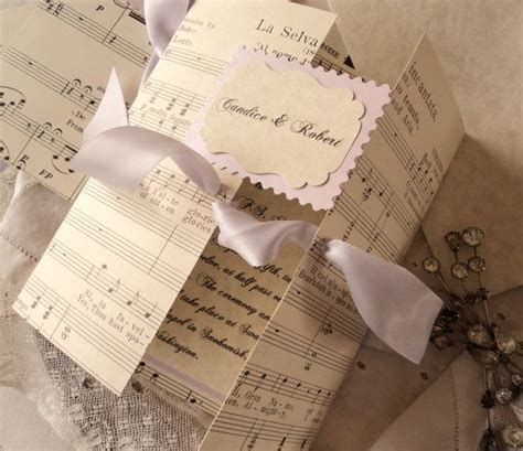 17 Best ideas about Music Wedding Invitations on Pinterest