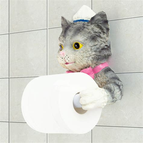 cute toilet paper holder unusual funny cute wall mounted butler cat toilet paper holder