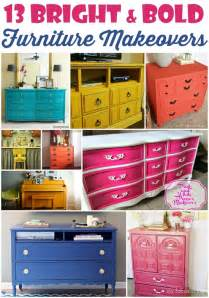 colorful dresser 13 bright and bold furniture makeovers domestic