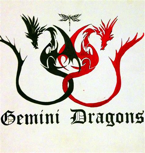 tribal gemini tattoos gemini dragons design possibly try
