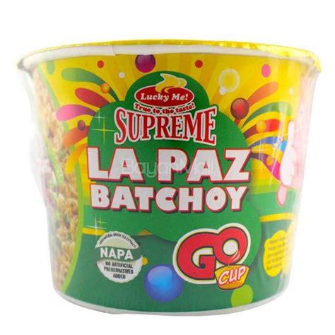 Cup Noodles Goes Refillable by Lucky Me Supreme La Paz Batchoy Go Cup 35g Cup Noodles