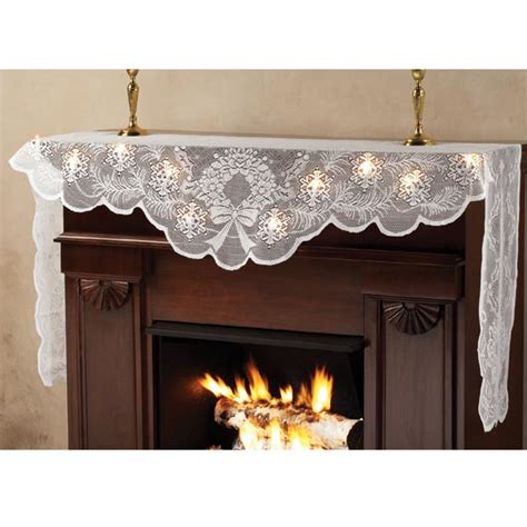 Fireplace Scarf by Fireplace Scarves 28 Images New White Lighted Light Lace Mantel Lighted Mantel Scarf Lace