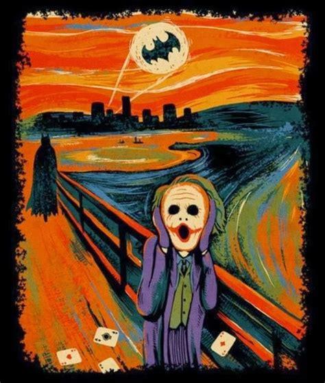 art parody the art of surrealism edvard munch the scream batman