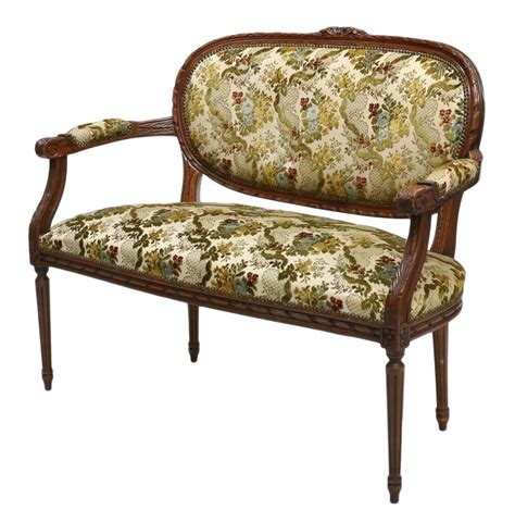 louis xvi settee french louis xvi style settee january antiques mid