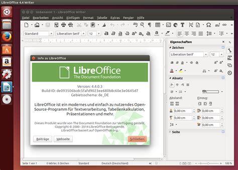 firefox themes libreoffice 5 das neue libreoffice 4 4 unter ubuntu installieren linux