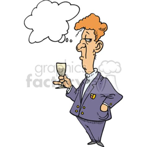 chagne glass cartoon snob clipart