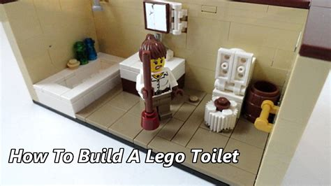 tutorial lego bathroom how to build a lego toilet youtube