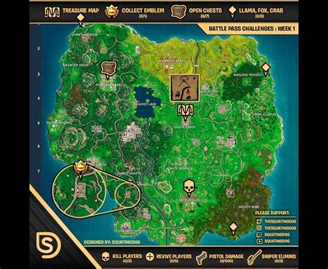 fortnite week 2 challenges list of all challenges for fortnite battle royale week 1