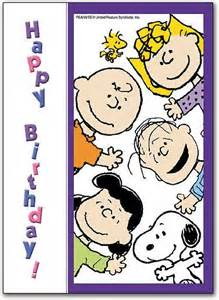 snoopy happy birthday with peanuts gang pictures photos