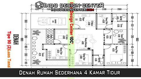 layout rumah 4 kamar tidur denah rumah sederhana 4 kamar tidur download file denah