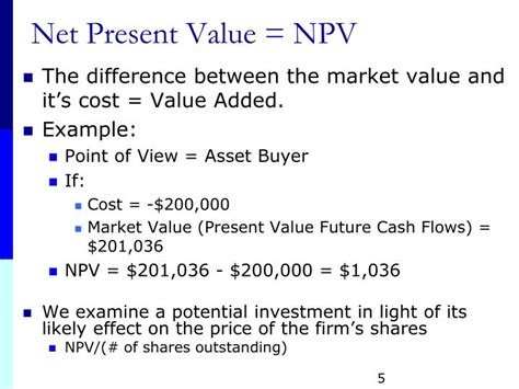 Net Present Value Mba Math by What Is The Present Value 28 Images Ppt Chapter 14