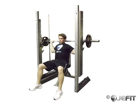 bench press neck smith machine shoulder press behind the neck exercise