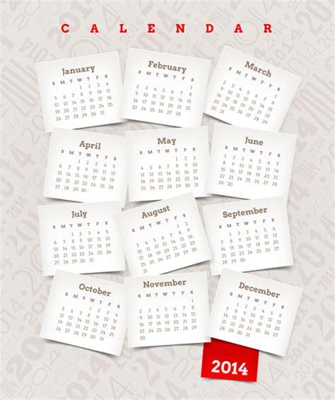 calendar design elements best calendars 2014 design elements vector 03 vector