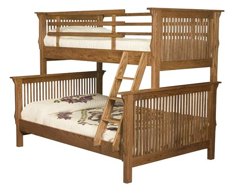 bunkbed w bookcase hardwood creations