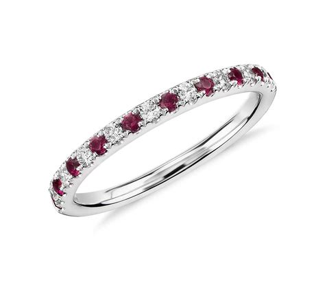riviera pav 233 ruby and ring in 14k white gold 1