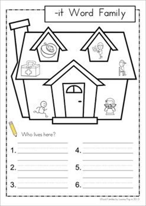 Free Printable Word Family Worksheets For Kindergarten by 20 Best Ideas About Word Family Activities On