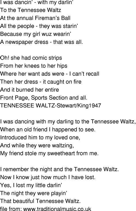 waltz lyrics time song lyrics tennessee waltz
