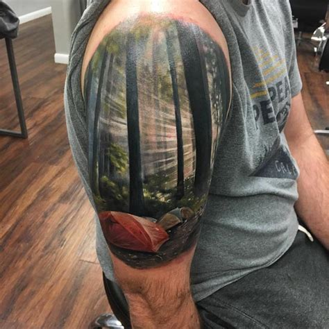 landscape tattoos c landscape on shoulder best ideas gallery