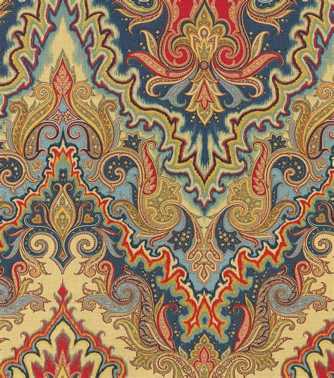 fabric for home decor home decor print fabric waverly paisley verse jewel jo ann