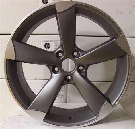 Audi A4 Rotor Felgen by 20 Audi Rotor Ttrs Style Alloy Wheels Gunmetal Polished