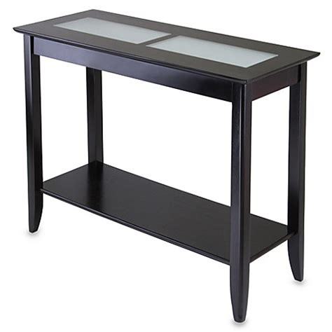 frosted glass end table loren console end table with frosted glass tiles bed