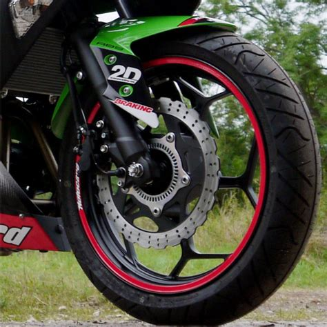 Kawasaki Ninja 300 Aufkleber by Motorradaufkleber Bikedekore Wheelskinzz Kawasaki