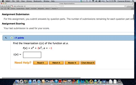 Find L by Find The Linearization L X Of The Function At A